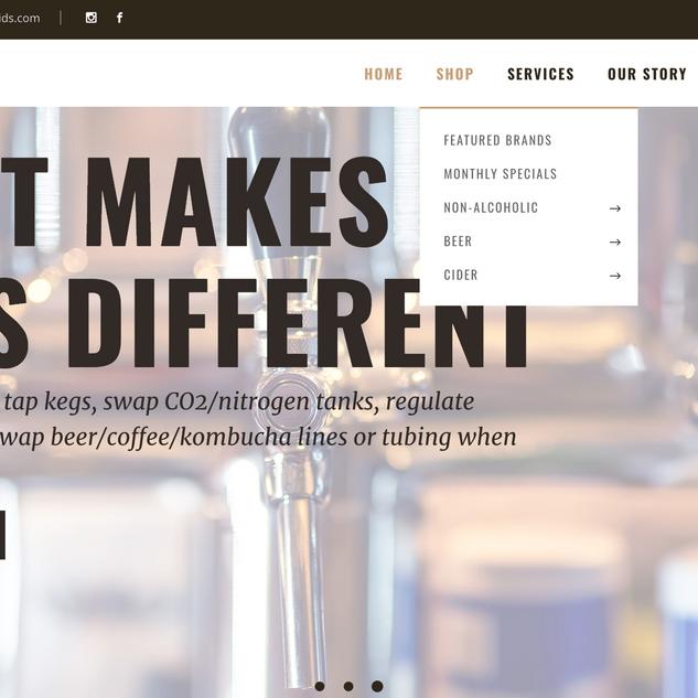 Boardwalk Liquids Website Design