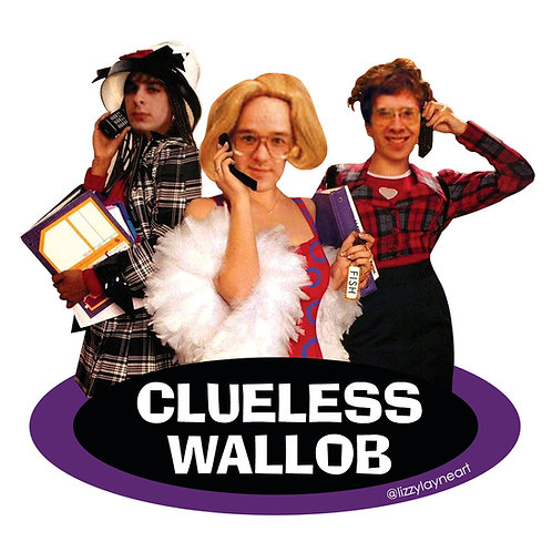 Clueless Wallob Sticker