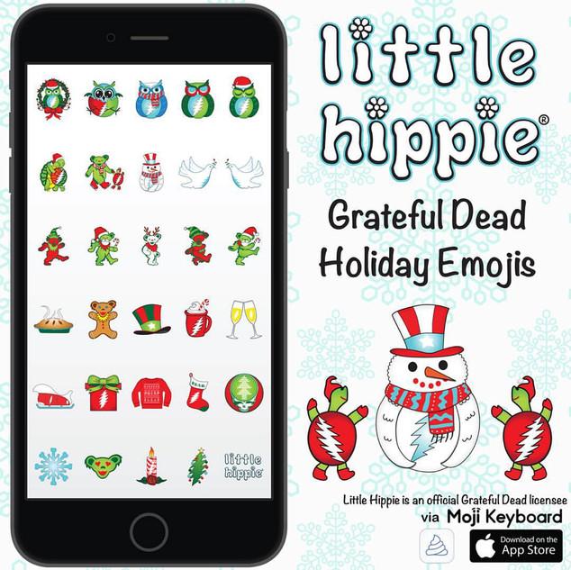 Little Hippie Grateful Dead Holiday Emoj