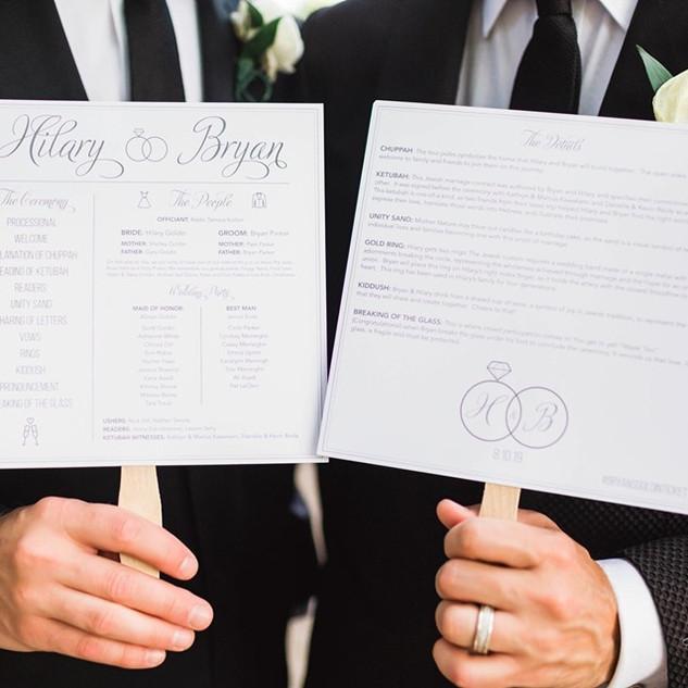 Wedding Program Fan Design