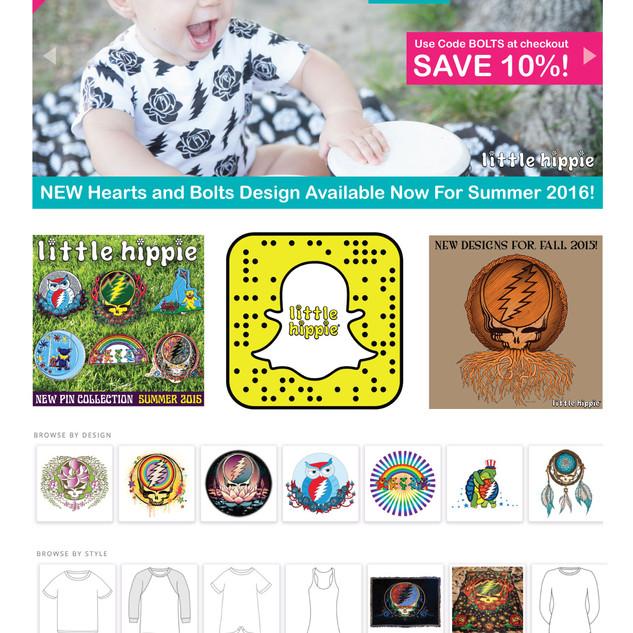 Little Hippie Website Design