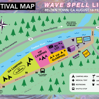 Wave Spell Festival Map