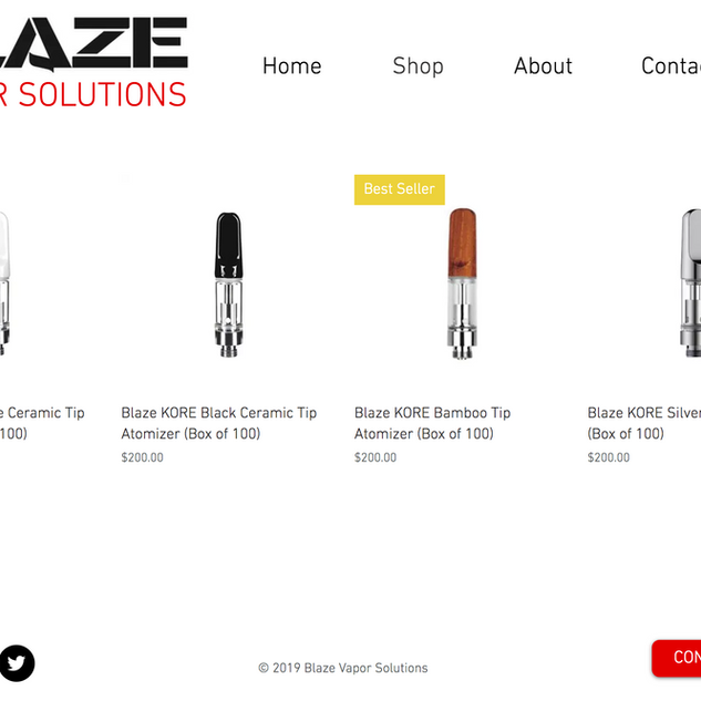Blaze Vapor Solutions Website Design
