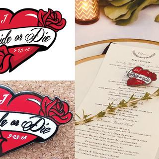 """""""Bride or Die"""" Pin Design"""