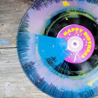 Vinyl Spin Art Label Design