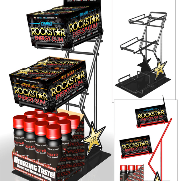 Rockstar Energy Drink Display Design