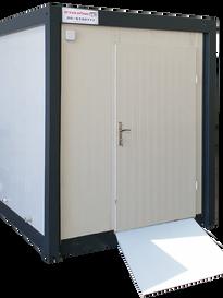 """מעלות מבנים- שירותים נייד ונגיש מידת מבנה: 200/220 ס""""מ"""