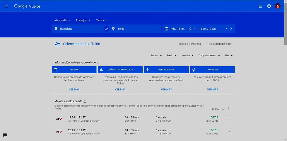 captura google vuelos