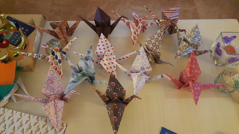 Grullas, origami, grullas de papel