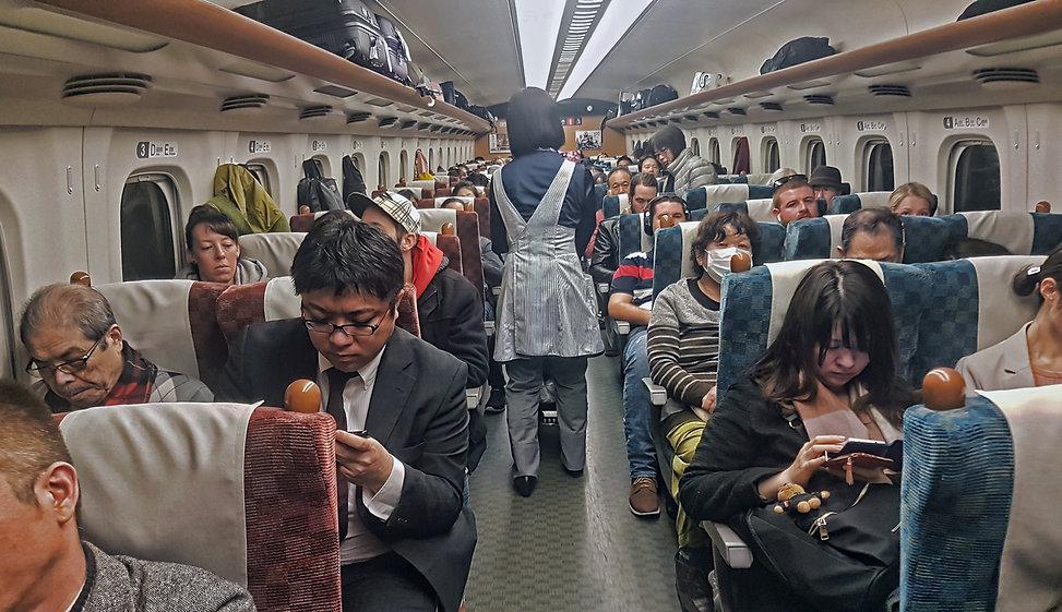 interior tren bala, shinkansen