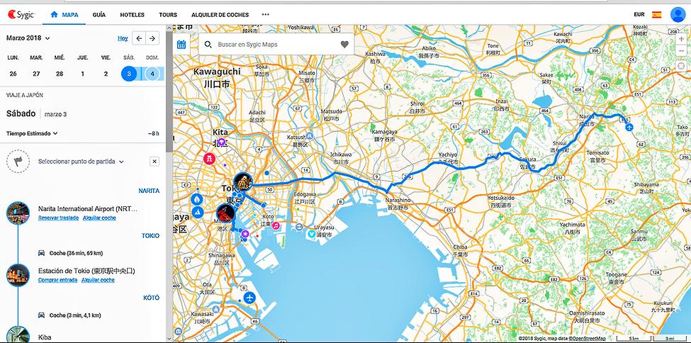 captura pantalla sygic travel