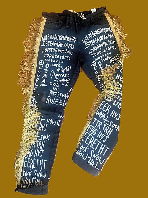 Fringe Boyfriend Jeans