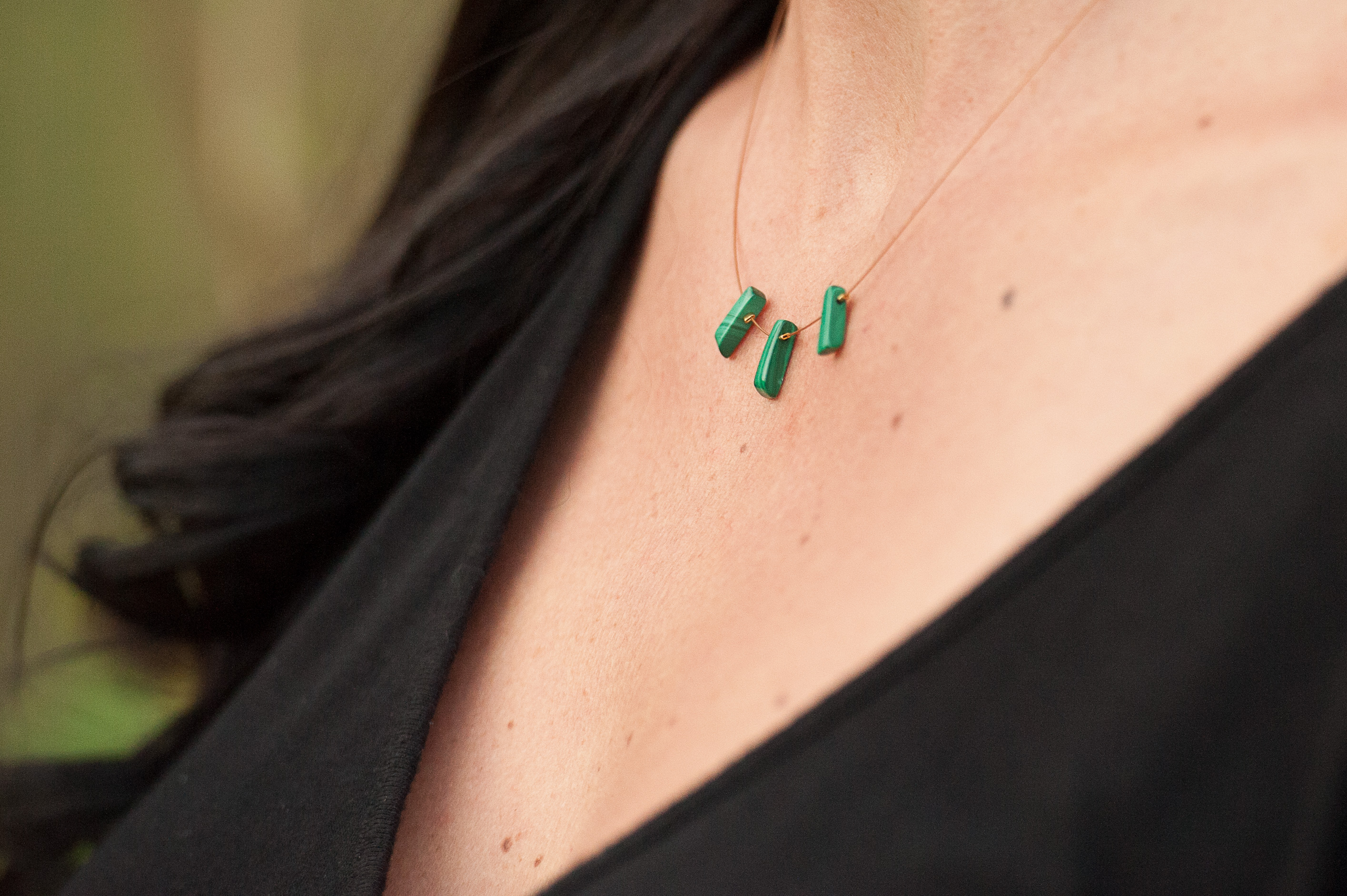 Green Malachite Fan #N10