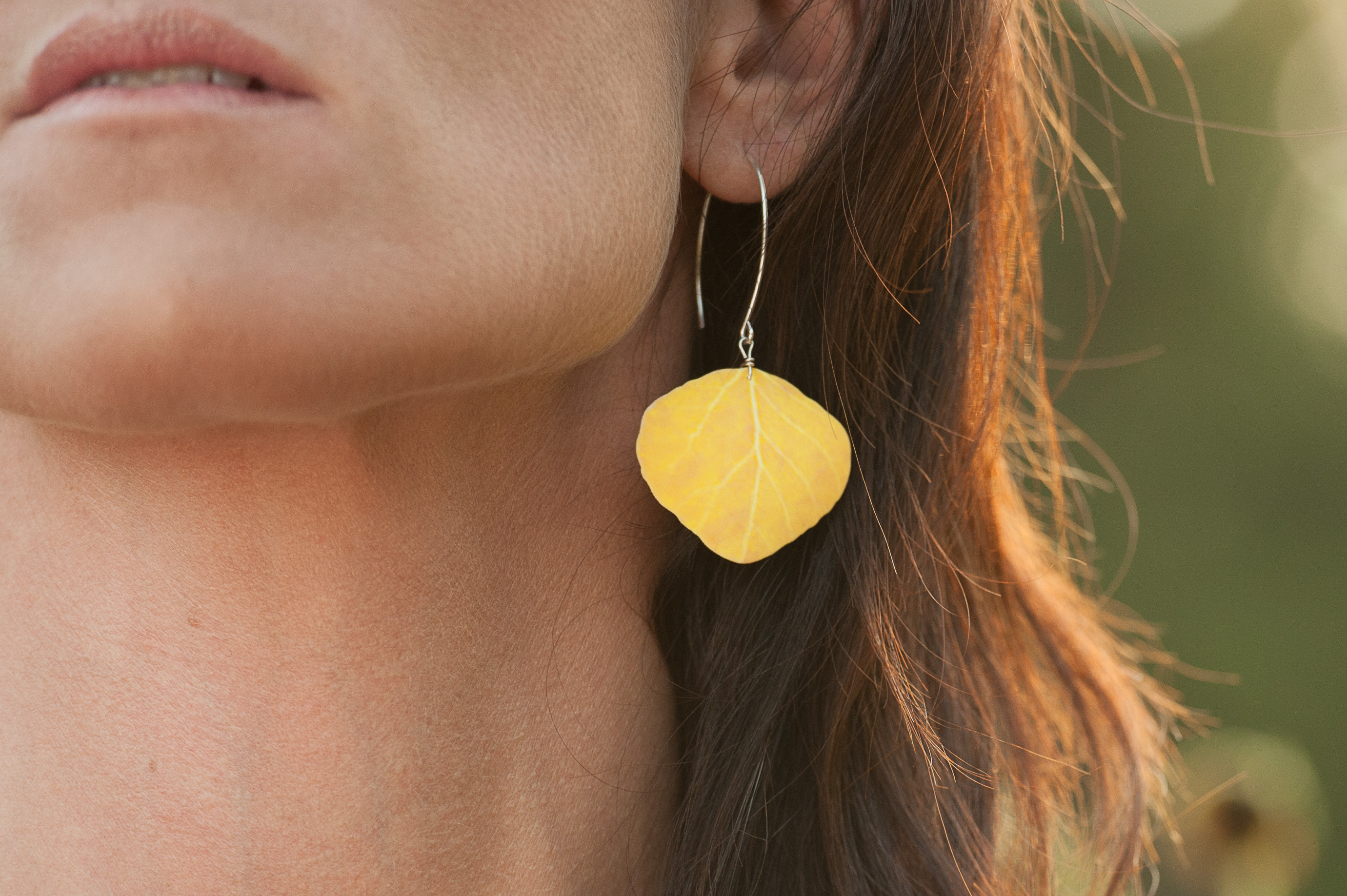 Yellow Aspen on hoops #E102