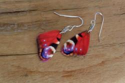Red Butterfly Wings #E101