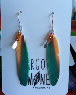 Green Macaw with Crystal Charm #E57