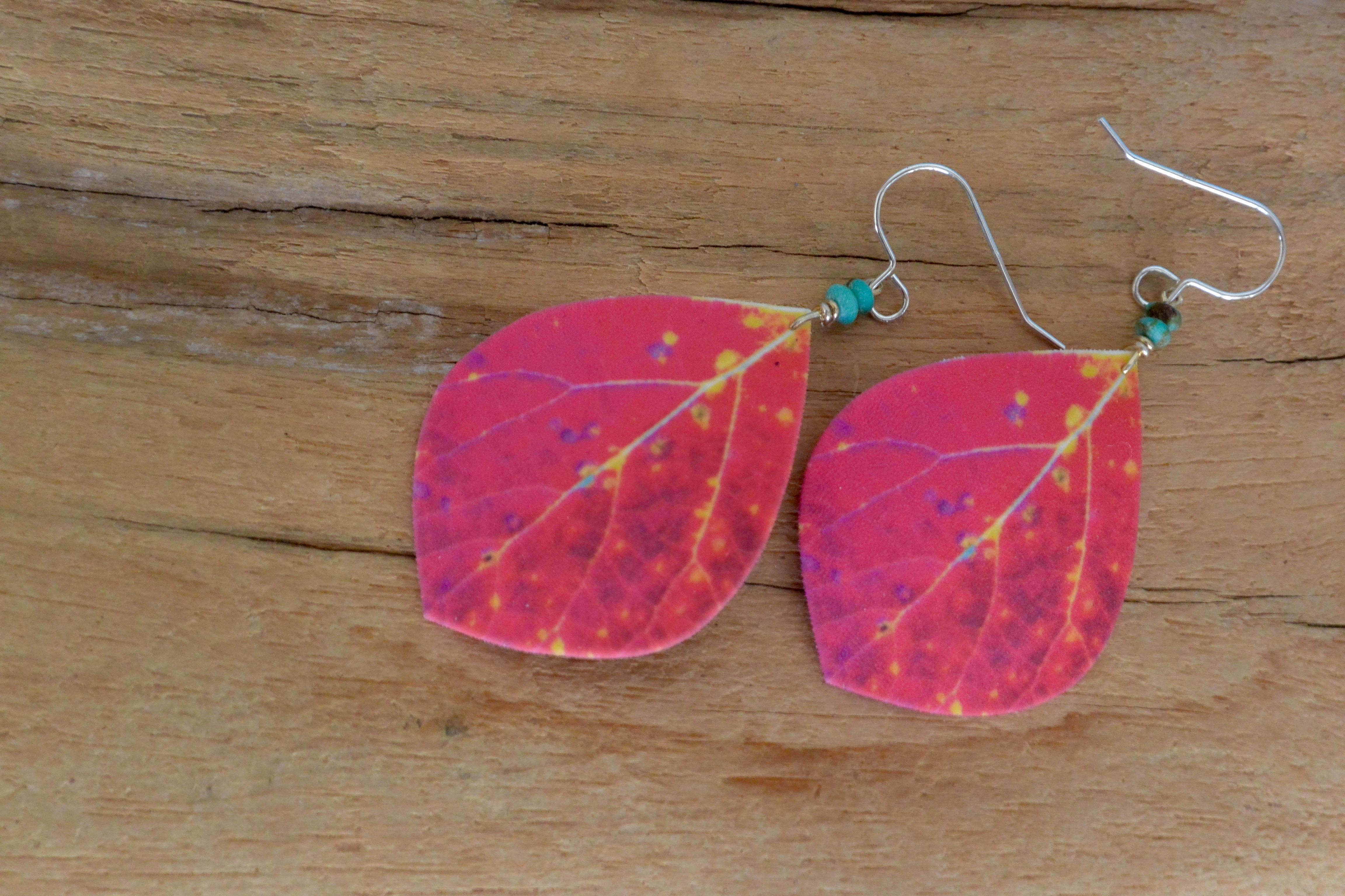 Large Pink Aspen Drops #E100