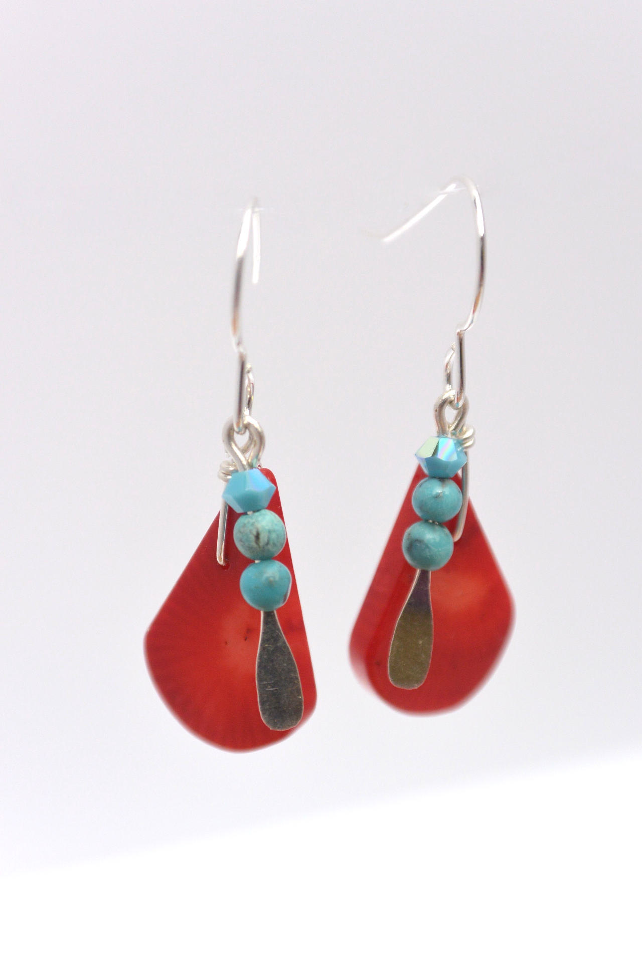 Coral Drops and turquoise #G25