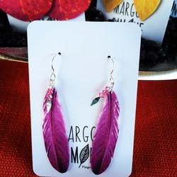 Purple Feather Crystal Charm #E79