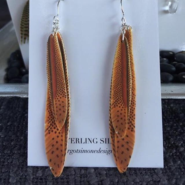 Pheasant Double Feather #E98