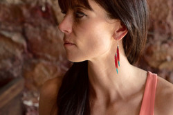 Macaw Feather Tiered Earring #E14