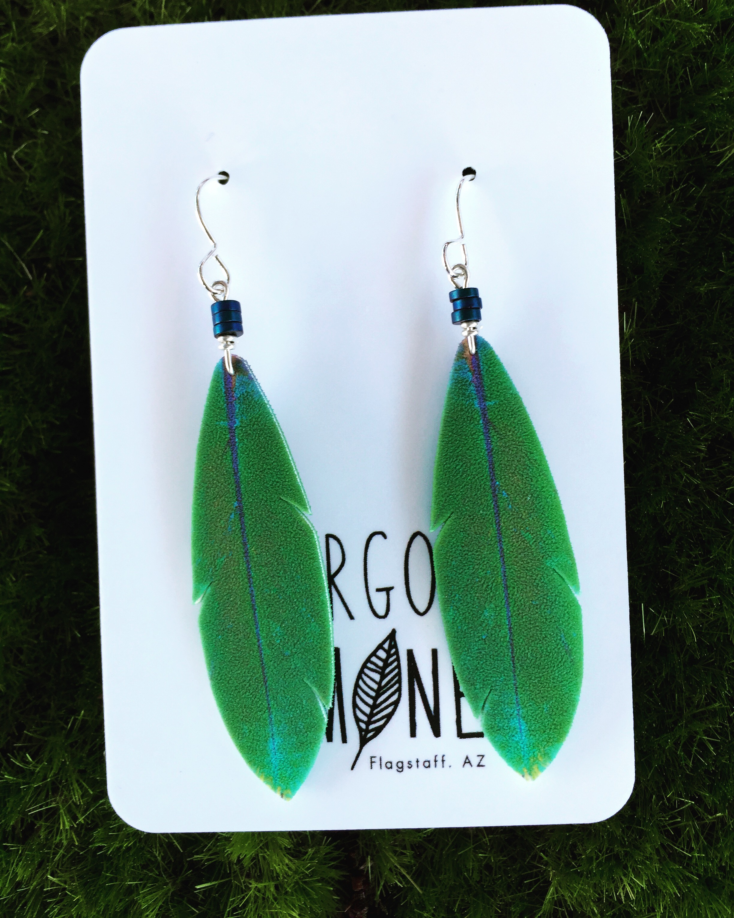 Green Feather hematite #E78
