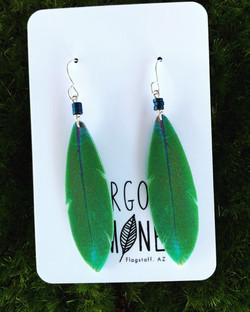 Green Feather hematite #E78