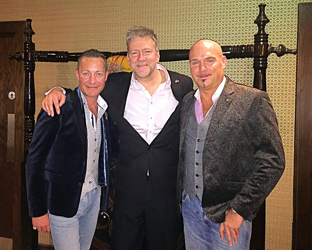 Alan Lee Ogden , Ian Leigh of Chaophraya and Andrew Dyke at the launch of the Newcastle Restaurant in Grey's Quarter Into Eldon Square