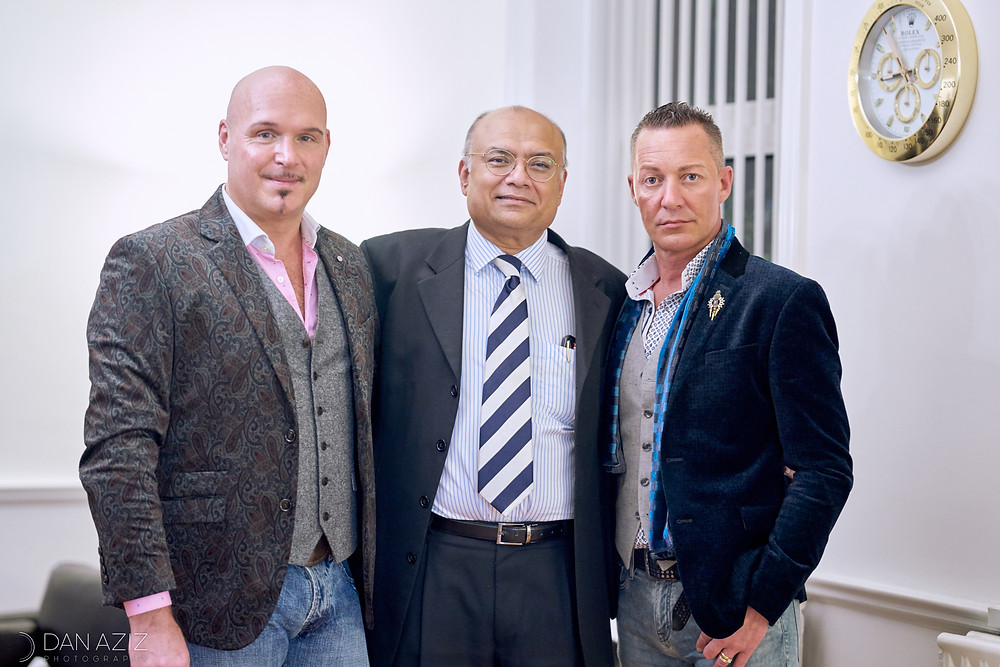 Andrew Dyke, Dr Ashish Dutta and Alan Lee Ogden at Aesthetic Beauty Centre in Newcastle upon Tyne