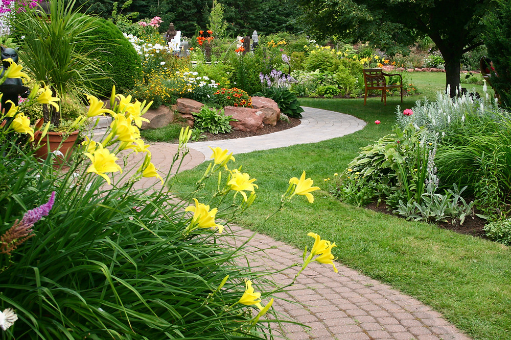 A well maintained garden