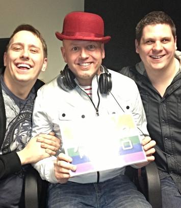 Craig Wilde at Radio Station