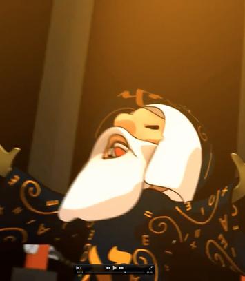 Craig Wilde voicing Wizard for Animated Math Movie