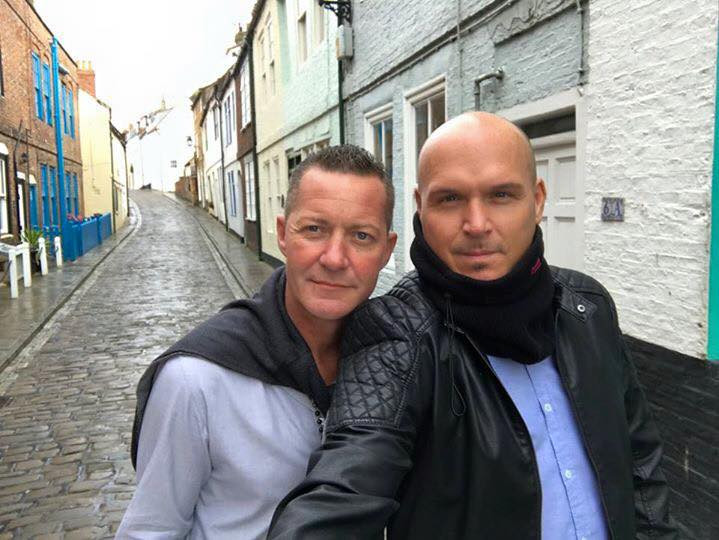 Alan Lee Ogden and Andrew Dyke in Whitby, Yorkshire