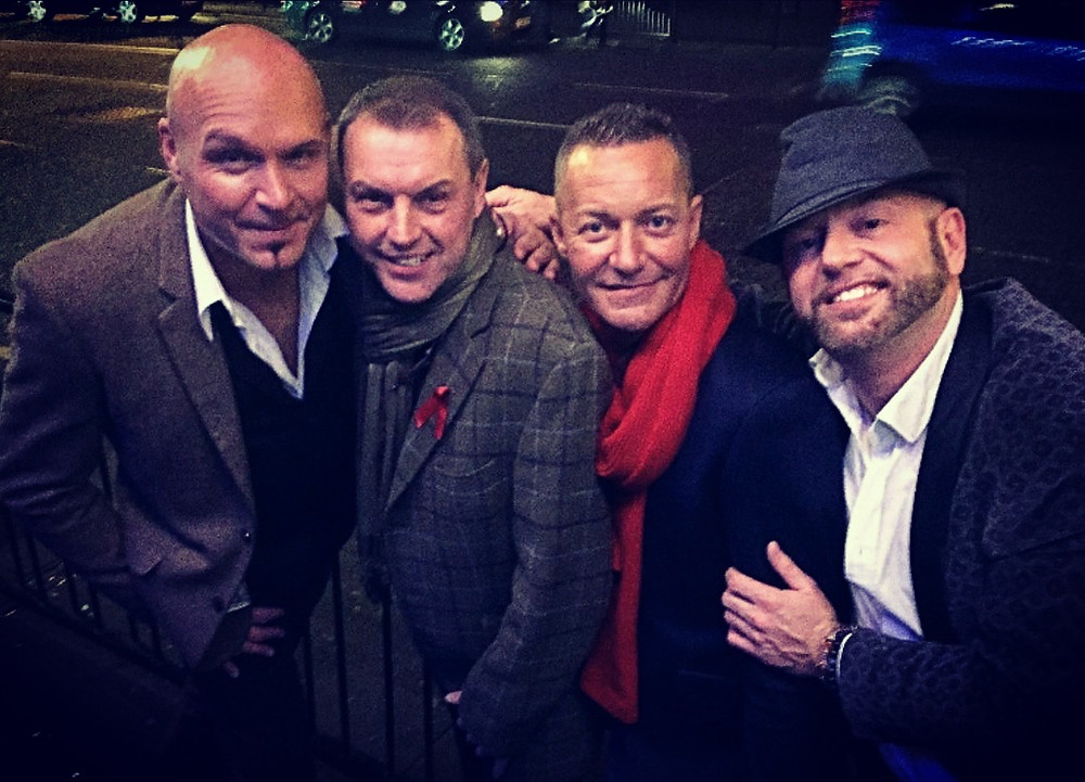 Alan Lee Ogden with Andrew Dyke, Chris Hayward and Craig Wilde
