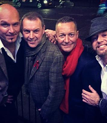 Craig Wilde with BBC Stars TRHe Property Boyz and Dame Actor Chris Hayward