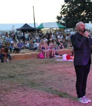 Craig Wilde hositng Yorkshire's Party in the Park 2018
