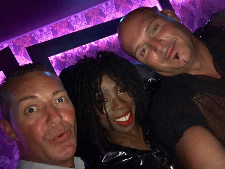 Us with our new friend Heather Small from M People!