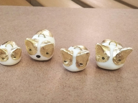 Cold Polymer Clay and Golden Corgi Keychains