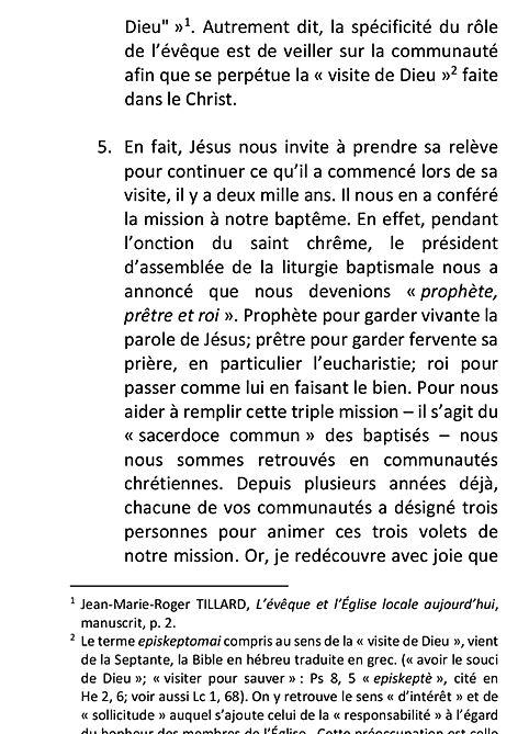 Lettre Missionnaire de Mgr Pierre Goudreault
