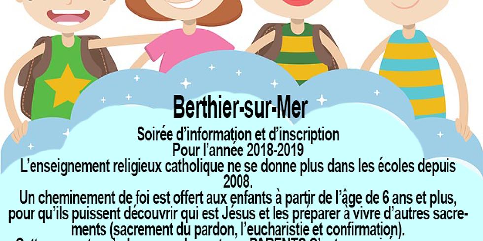 Soirée d'information et d'inscription - Cheminement de foi pour les 6 ans et plus