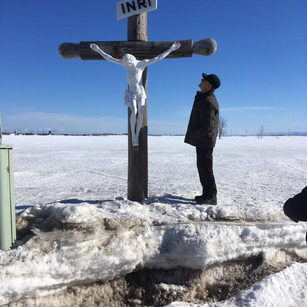 Croix de chemin à Saint-François-de-la-Rivière-du-Sud