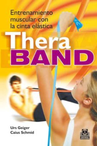Entrenamiento muscular con la cinta Thera Band (bicolor).