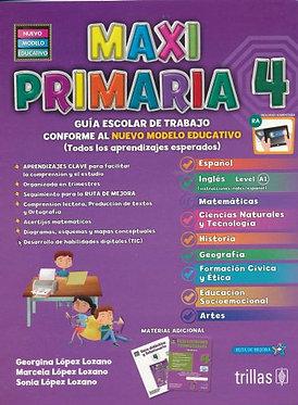 Paq. maxi primaria 4 primaria guia escolar de trabajo y evaluaciones trimestrale