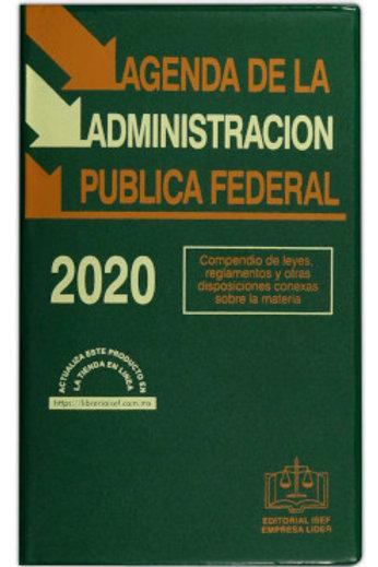 AGENDA DE LA ADMINISTRACIÓN PUBLICA FEDERAL 2020