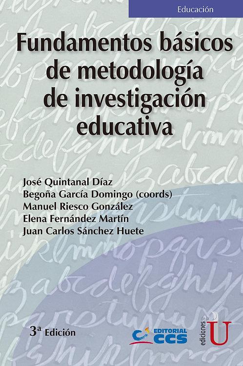 Fundamentos básicos de metodología de investigación educativa 3ª Edición