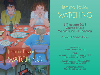 Galleria Il Punto: WATCHING  di Jemima Taylor