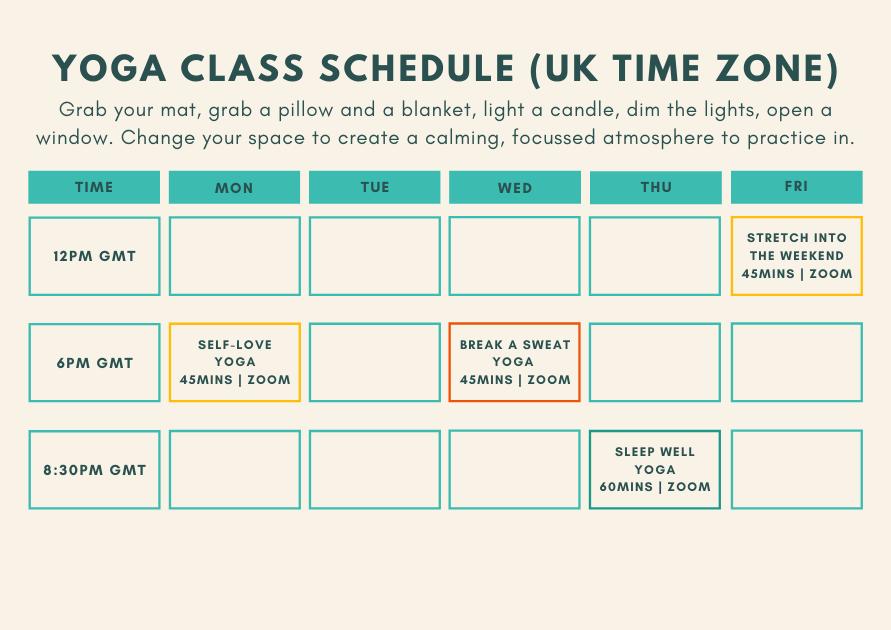 Whole Health Gabie Class Schedule