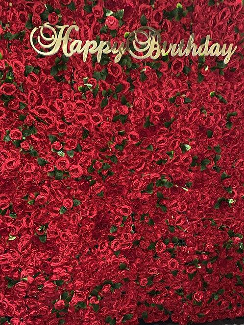 Ruby Woo Flower Wall