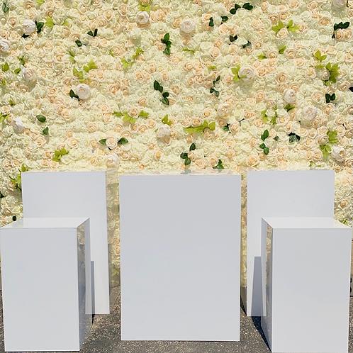 Mila Square White Acrylic Pedestals