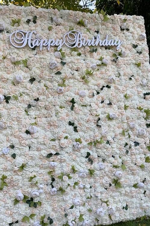 """Happy Birthday"" Signage"